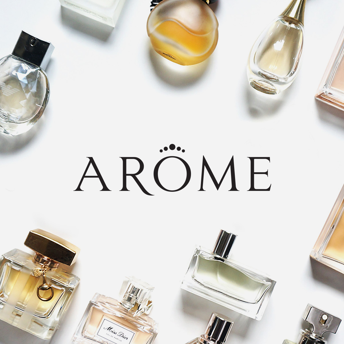 Brand identity for a perfumery store