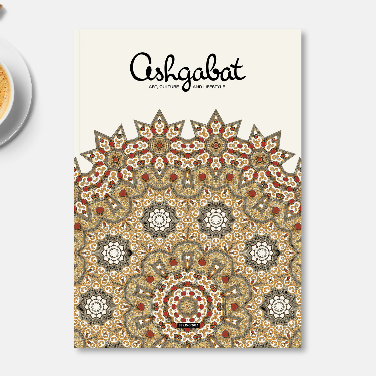 Ashgabat. Design and layout of a good-life magazine