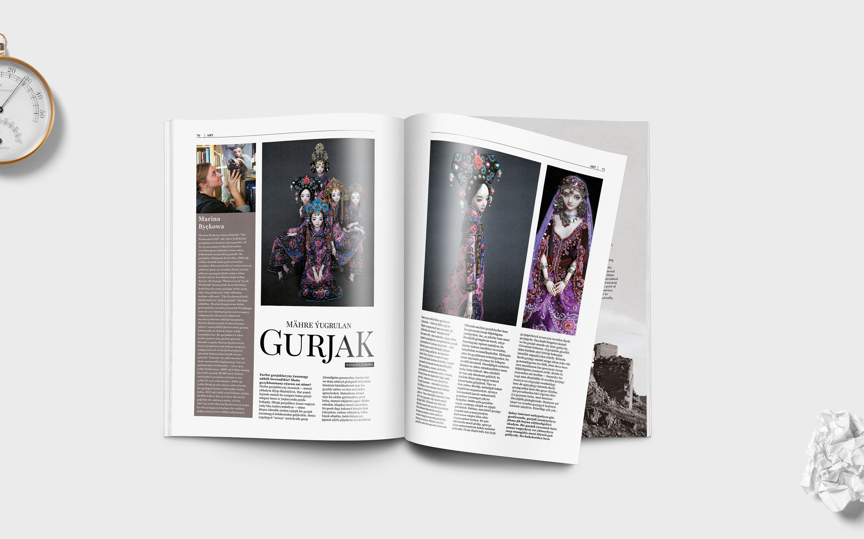 Ashgabat. Design and layout of a good-life magazine