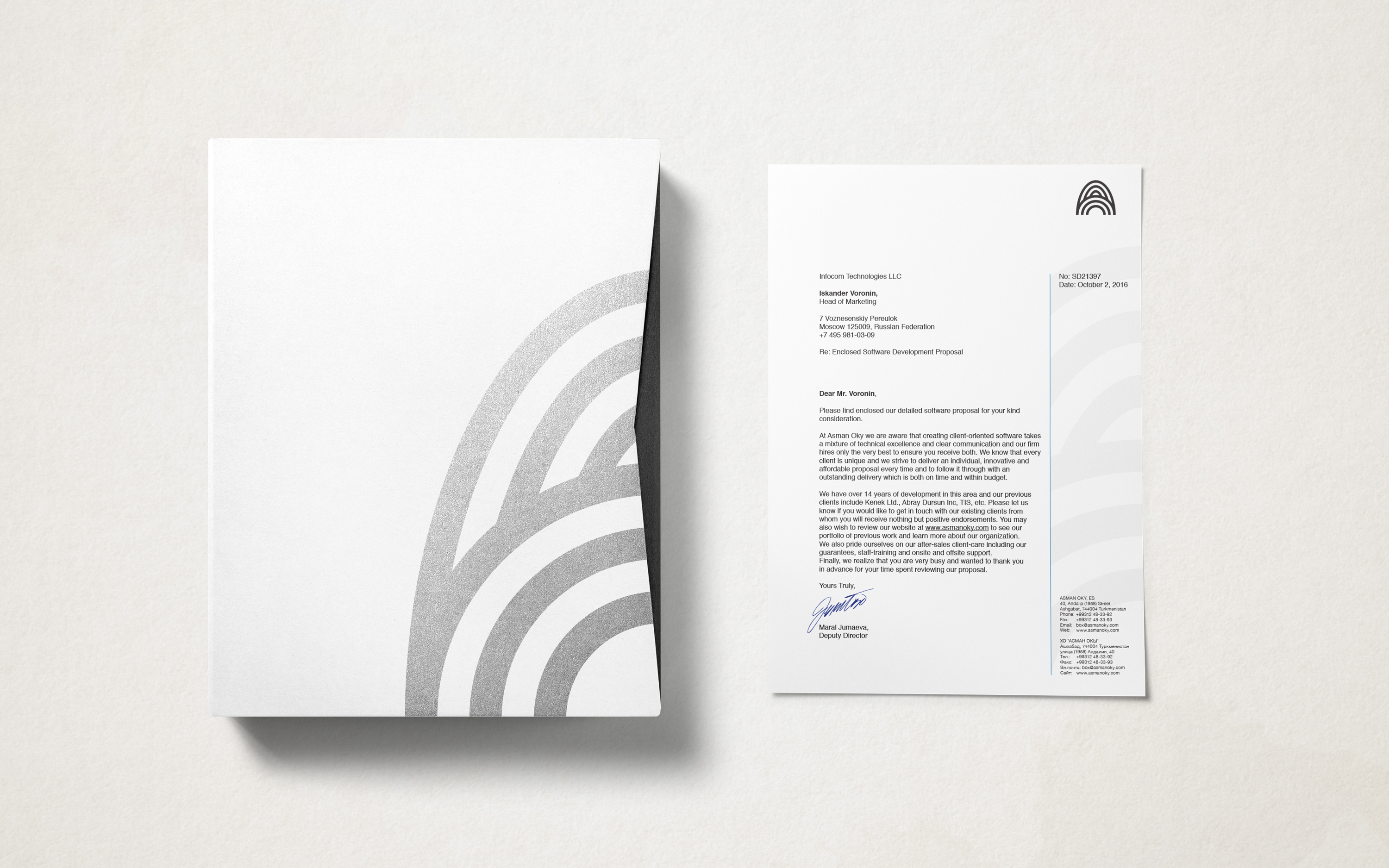 Asman Oky. Brand identity for a software development company