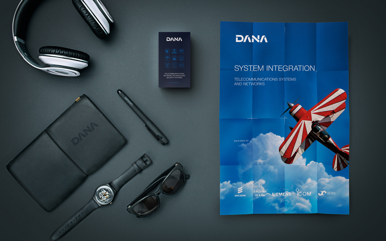 Dana. Brand identity for a tech company
