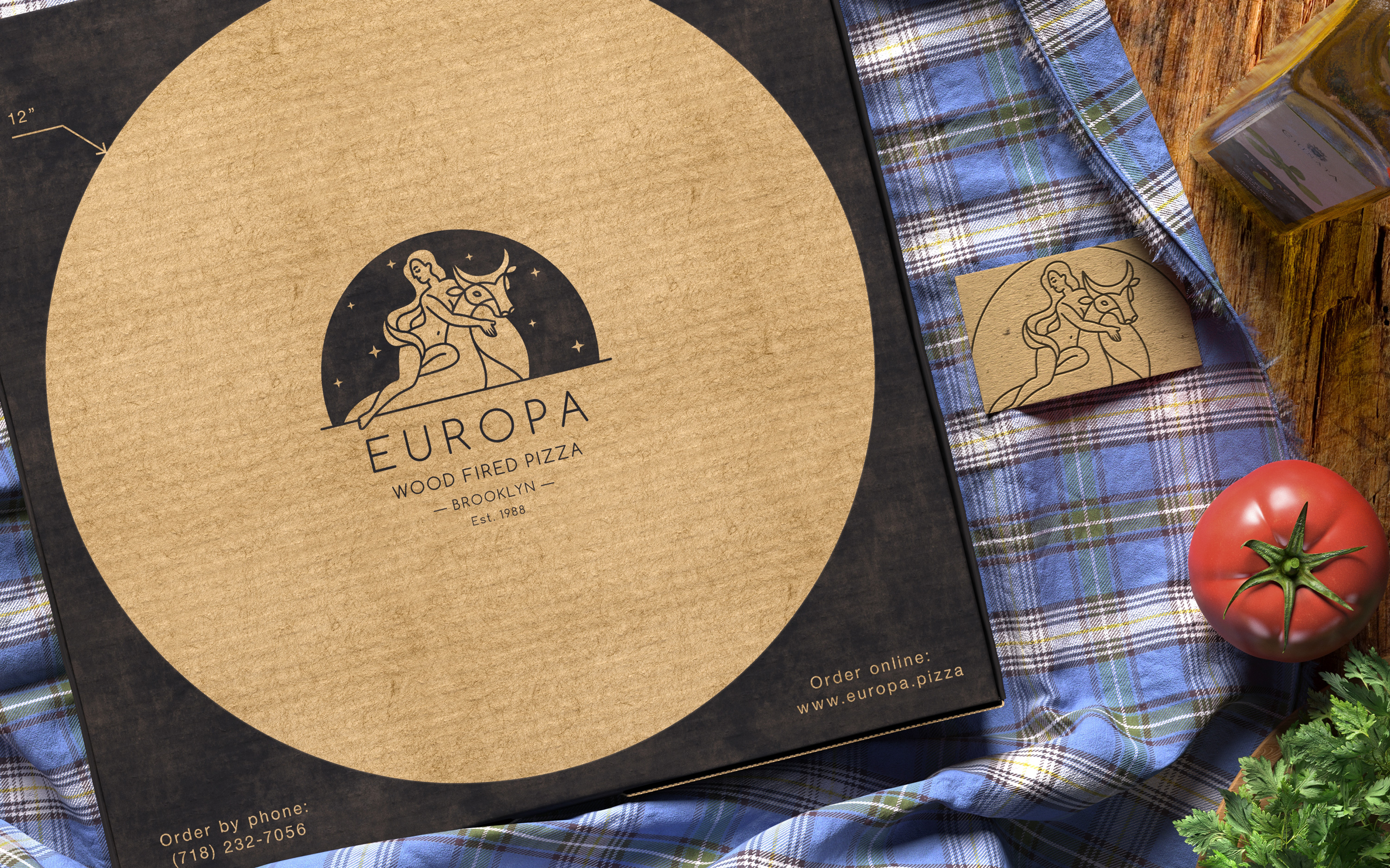 Europa. Brand identity refresh for a Brooklyn based pizzeria