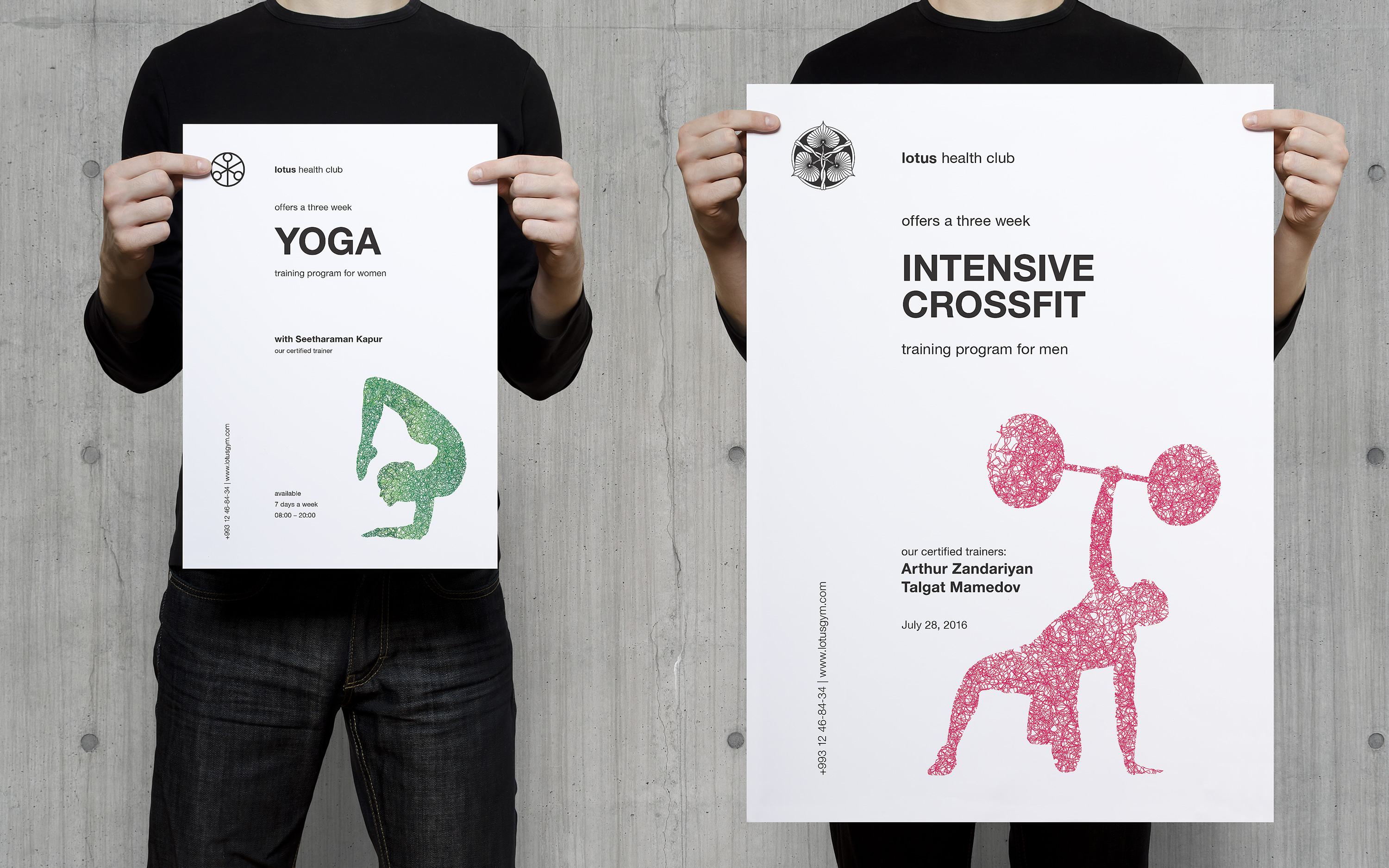 Lotus. Brand identity for a fitness club