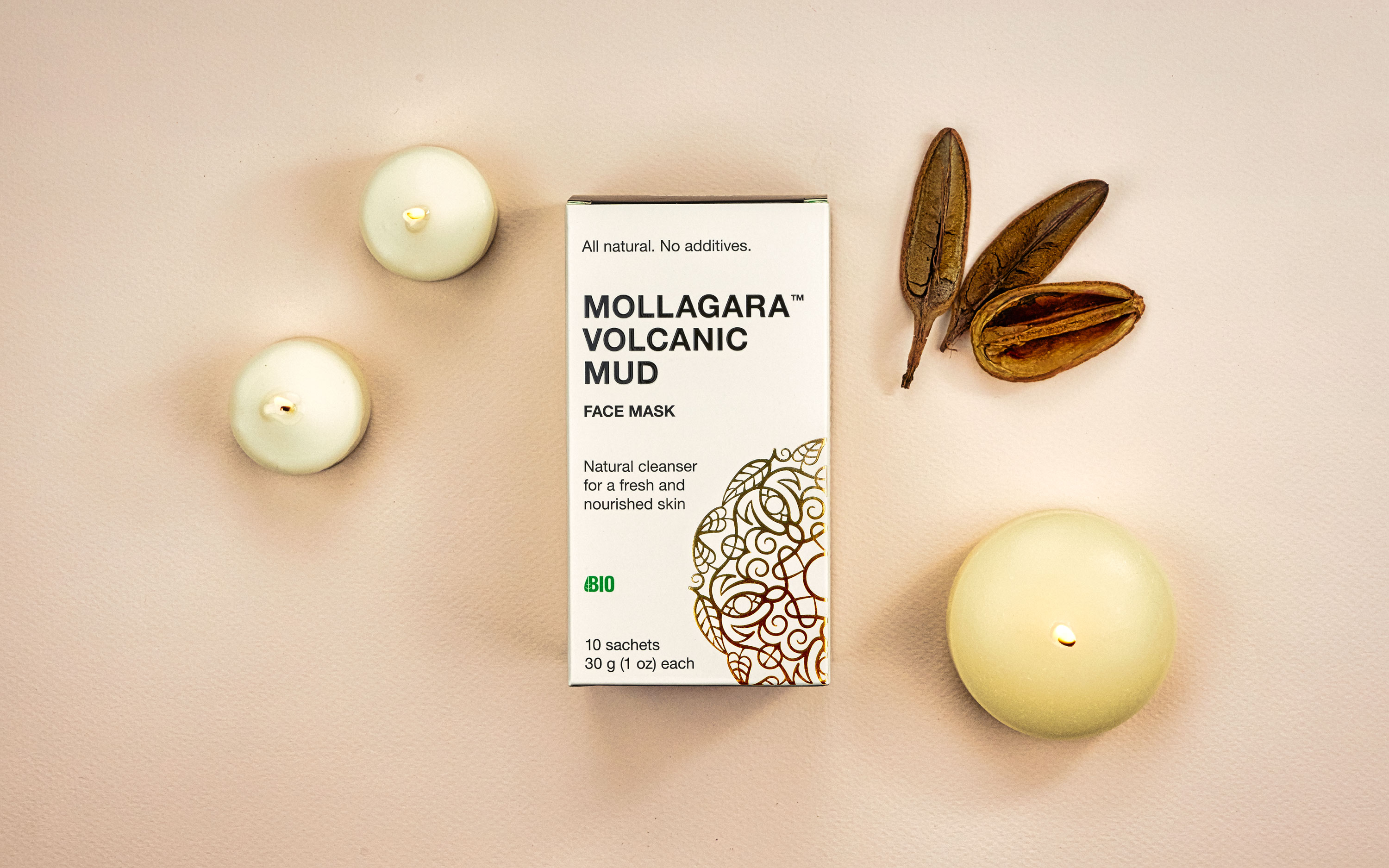 Mollagara. Packaging for natural skin care products