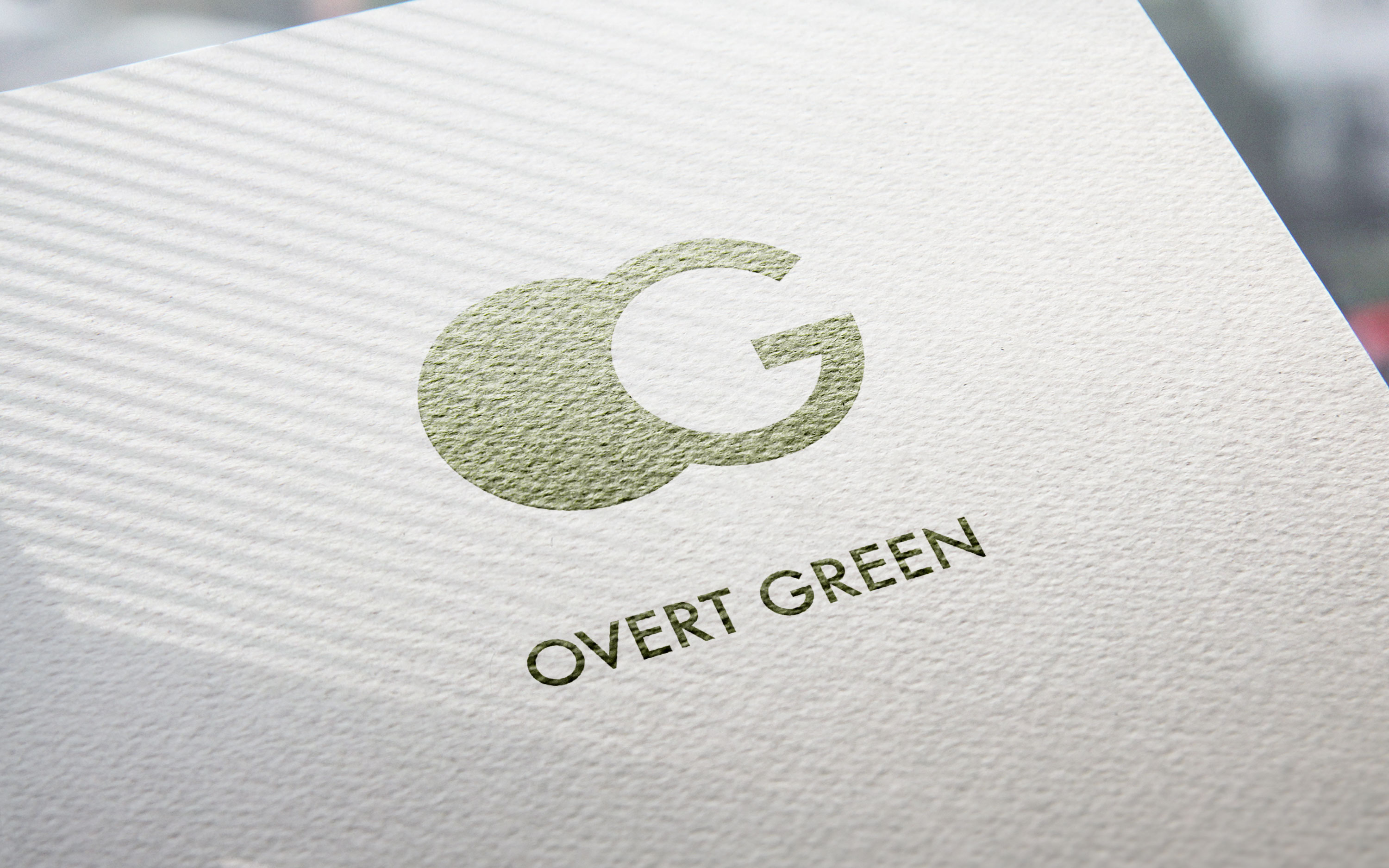 Overt Green. Logo for a Dubai based recycling company