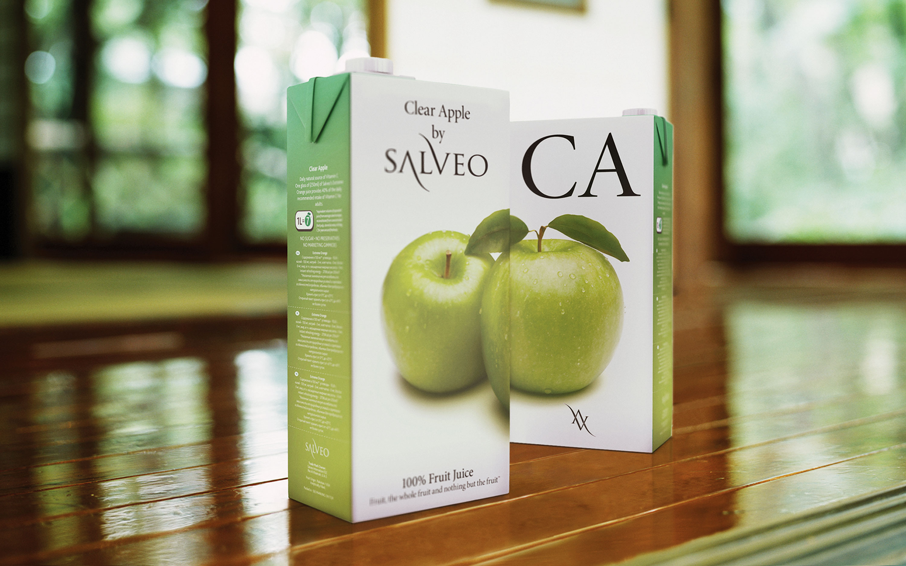 Salveo. Fresh juices packaging design