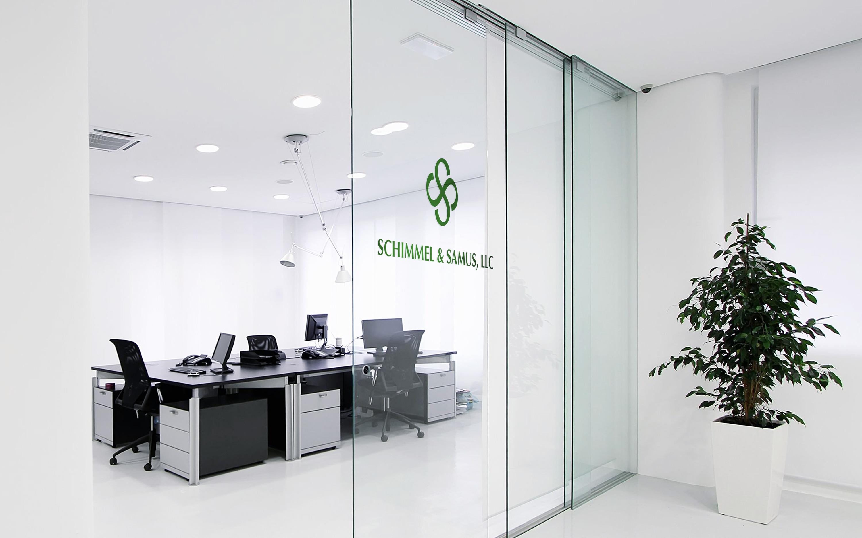 Schimmel & Samus. Logo for a law office