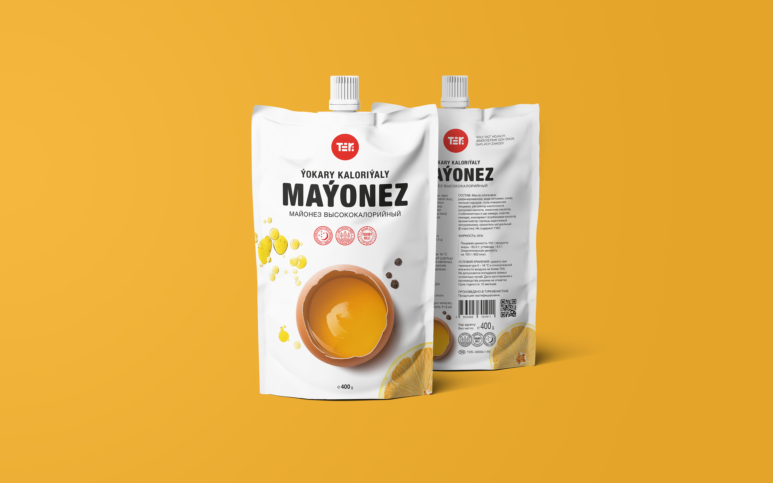 Teri. Logo and packaging for a food company
