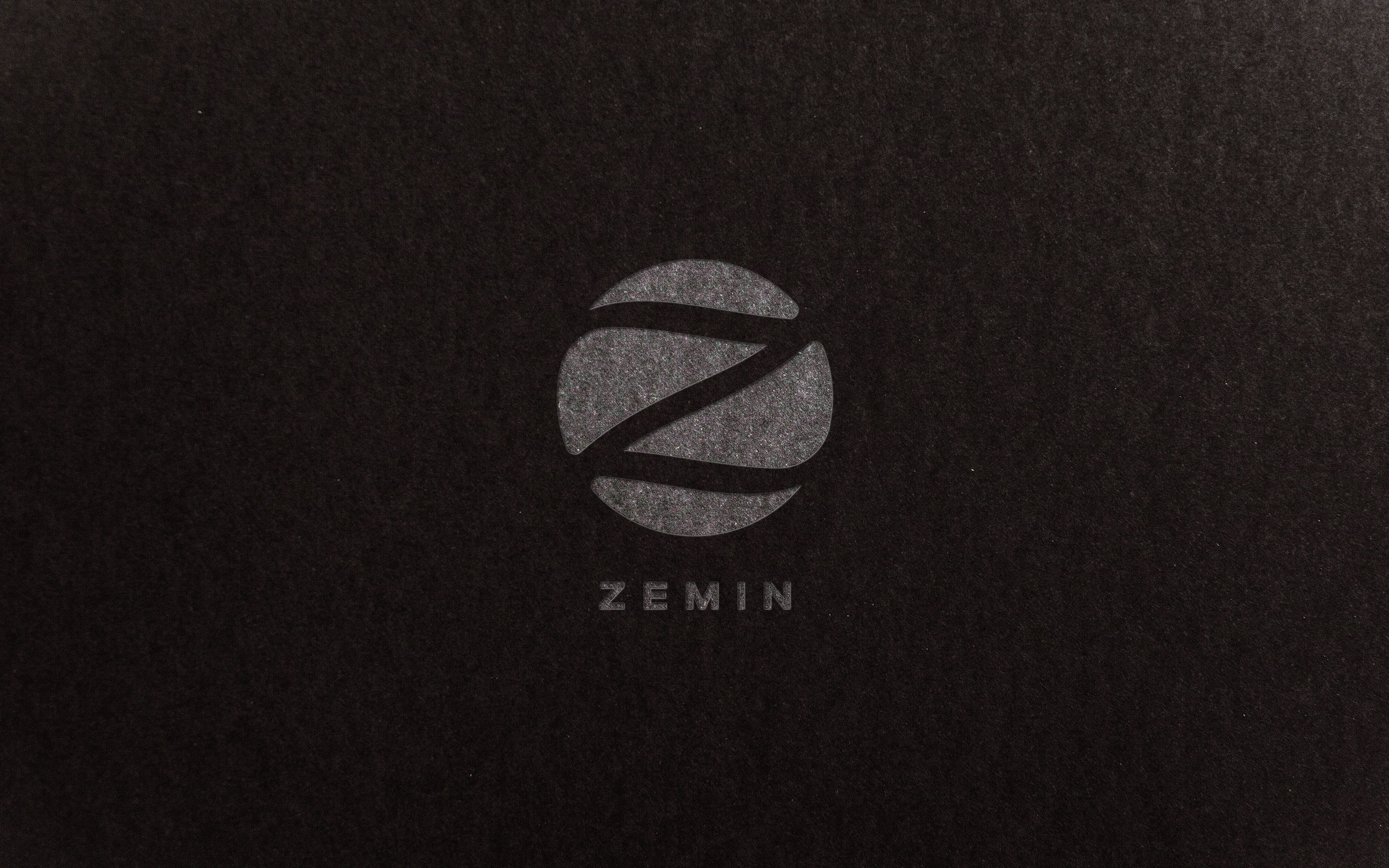 Zemin. Logo for a men's fashion company